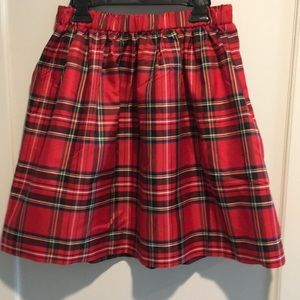 J.Crew Crewcuts Plaid Chiffon Skirt